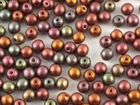 Round Beads Matte Metallic Iris Purple 4 mm - opakowanie