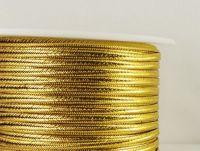 Sutasz chiński złoty metalizowany 3mm - szpulka 50 m