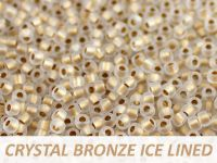 Matubo 8o Crystal Bronze Ice Lined - 10 g