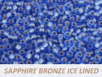 Matubo 8o Sapphire Bronze Ice Lined - 10 g