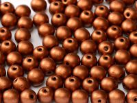 Round Beads Matte Metallic Dark Copper 6 mm - 20 sztuk