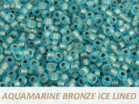 Matubo 8o Aquamarine Bronze Ice Lined - 10 g