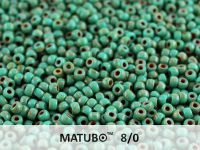 Matubo 8o Opaque Turquoise - Picasso - 10 g