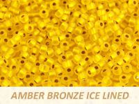 Matubo 8o Amber Bronze Ice Lined - 10 g