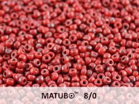 Matubo 8o Opaque Red - Picasso Silver - 100 g