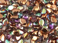 PIP 7x5mm Crystal Copper Rainbow - 20 sztuk