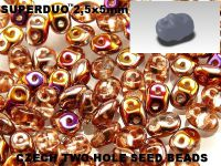 SuperDuo 2.5x5mm Crystal Sliperit - 100 g