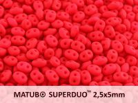 SuperDuo 2.5x5mm Neon Red - 10 g