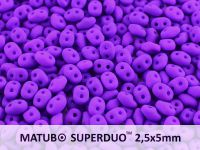 SuperDuo 2.5x5mm Neon Dark Purple - 10 g
