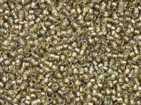TOHO Round 15o-279 Inside-Color Rainbow Lt Topaz - Gray Lined - 5 g