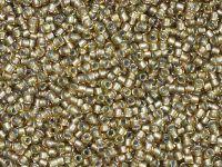 TOHO Round 15o-279 Inside-Color Rainbow Lt Topaz - Gray Lined - 5 g