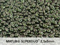 SuperDuo 2.5x5mm Polychrome - Olive Mauve - 10 g