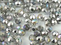 FP 4mm Crystal Silver Rainbow - 40 sztuk