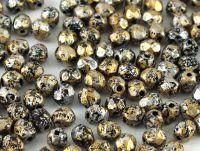 FP 4mm Metallic Marble Gold - 40 sztuk