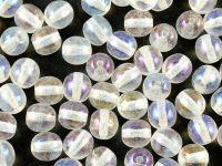 Round Beads Crystal - White Iris 6 mm - 20 sztuk