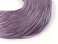 Rzemień 1 mm fioletowy metaliczny - 1 m