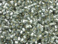TOHO Hex 8o-29AF Silver-Lined Frosted Black Diamond - 10 g