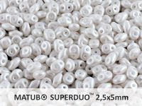 SuperDuo 2.5x5mm Pearl Shine White - 10 g