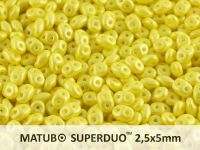 SuperDuo 2.5x5mm Pearl Shine Amber - 10 g
