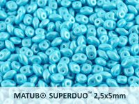 SuperDuo 2.5x5mm Pearl Shine Aqua - 10 g