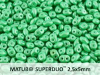 SuperDuo 2.5x5mm Pearl Shine Light Green - 10 g