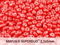 SuperDuo 2.5x5mm Pastel Red - 10 g