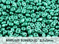SuperDuo 2.5x5mm Pastel Dark Green - 10 g