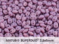 SuperDuo 2.5x5mm Matte Opal Violet - 10 g