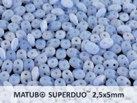 SuperDuo 2.5x5mm Matte Opal Blue - 10 g