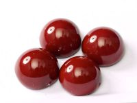 Dome Bead Fiesta Cranberry 10x6mm - 1 sztuka