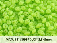SuperDuo 2.5x5mm Matte Opal Green - 10 g