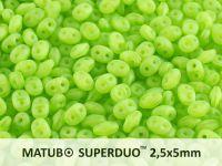 SuperDuo 2.5x5mm Matte Opal Green - 10 g