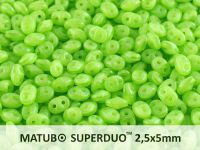 SuperDuo 2.5x5mm Opal Green - 10 g