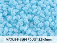 SuperDuo 2.5x5mm Opal Aqua - 100 g