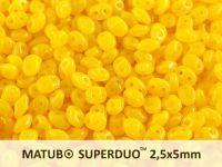 SuperDuo 2.5x5mm Opal Amber - 10 g