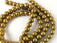 Hematyt złoty matowy kula 10 mm - sznur 40 cm
