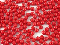 Round Beads Opaque Red 3 mm - opakowanie