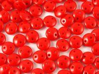 Lentil 6mm Opaque Red - 20 sztuk