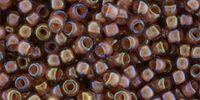 TOHO Round 8o-1850 Inside-Color Rainbow Topaz - Mauve - 10 g