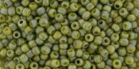 TOHO Round 11o-2631F Semi Glazed Rainbow - Olive - 10 g