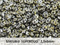SuperDuo 2.5x5mm Metallic Marble Yellow - 10 g