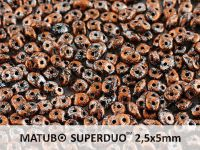 SuperDuo 2.5x5mm Metallic Marble Copper - 10 g