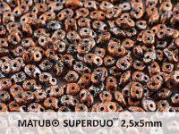 SuperDuo 2.5x5mm Metallic Marble Copper - 10 g
