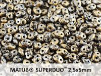 SuperDuo 2.5x5mm Metallic Marble Gold - 10 g