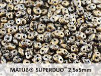 SuperDuo 2.5x5mm Metallic Marble Gold - 10 g