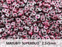 SuperDuo 2.5x5mm Metallic Marble Pink - 10 g