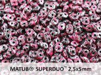 SuperDuo 2.5x5mm Metallic Marble Pink - 10 g