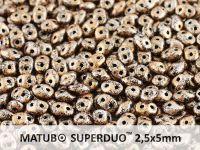 SuperDuo 2.5x5mm Metallic Marble Light Copper - 10 g