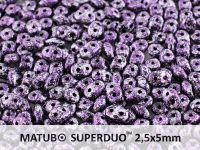 SuperDuo 2.5x5mm Metallic Marble Violet - 10 g