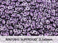 SuperDuo 2.5x5mm Metallic Marble Violet - 10 g